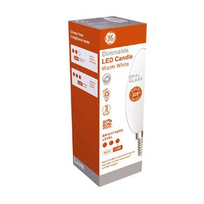 General Electric E14 LED Dimmable Candle 4.8W Warm White Light Bulb