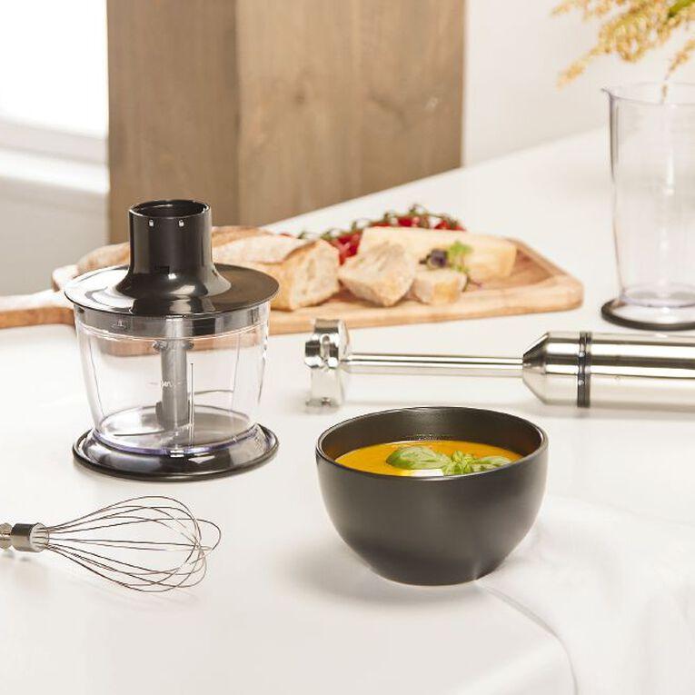 Living & Co Stick Mixer Full Set With Chopper 600w Black/Silver, , hi-res