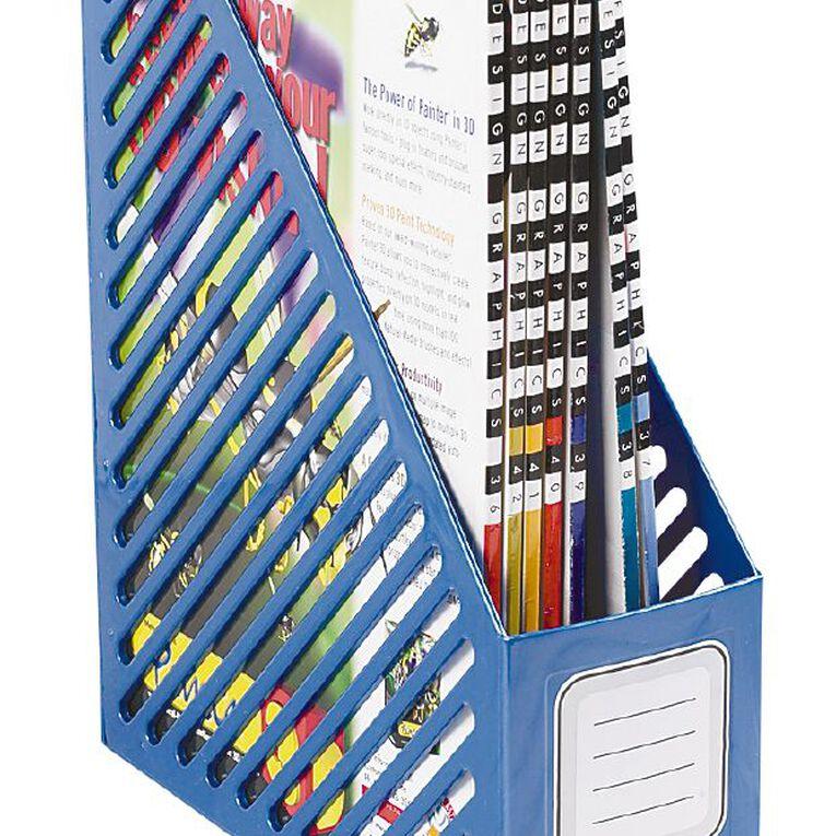 GBP Stationery Magazine File Blue Light, , hi-res