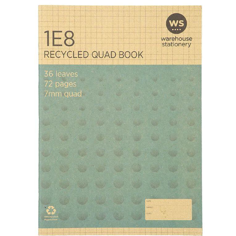 WS Recycle 1E8 Exercise Book, , hi-res