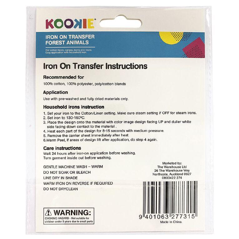 Kookie Iron on Transfer Woodland, , hi-res