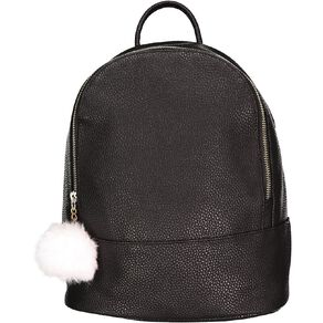 H&H Mini Backpack Handbag With Pom Pom
