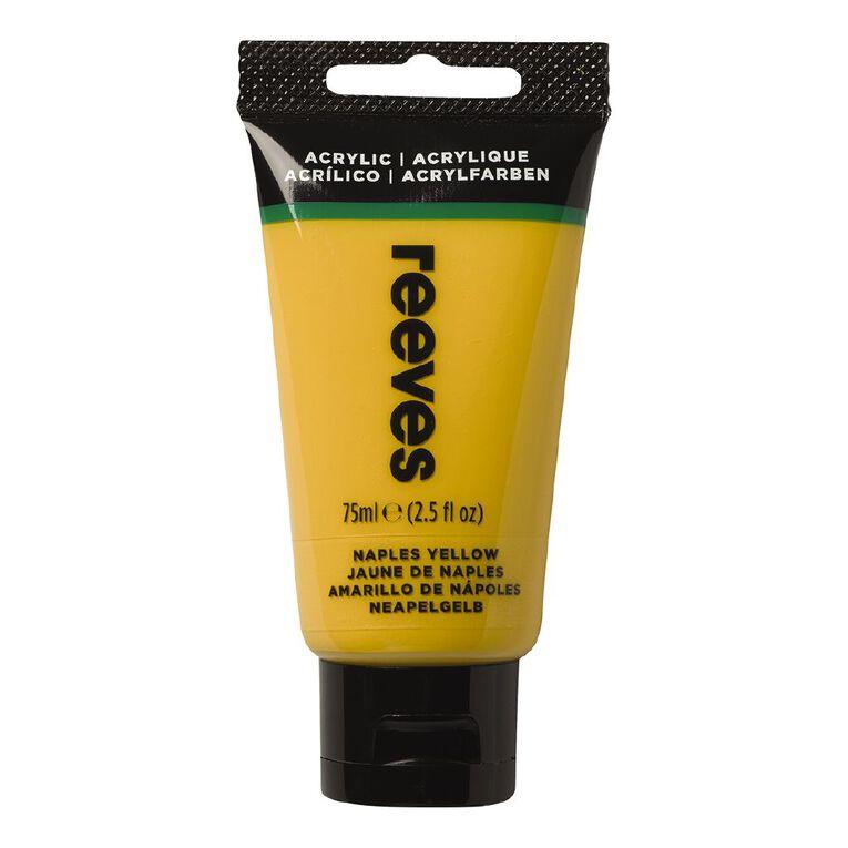 Reeves Fine Acrylic 75ml Naples Yellow 495 75ml, , hi-res