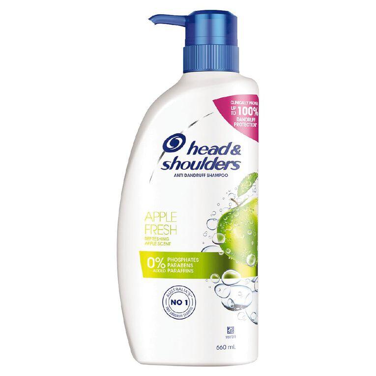 Head & Shoulders Apple Fresh Shampoo 660ml, , hi-res