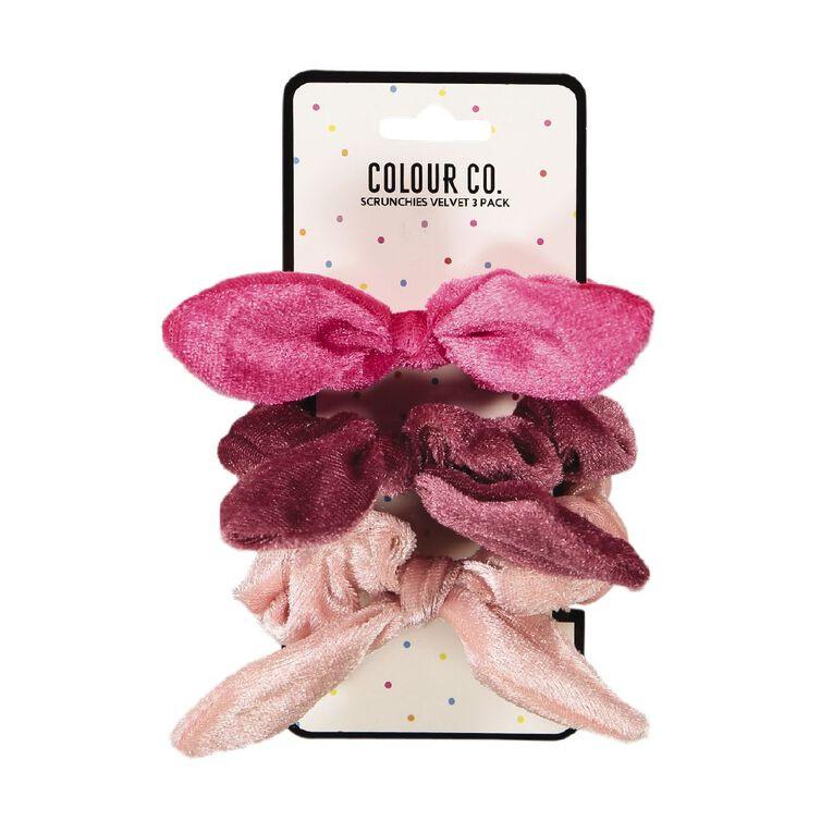 Colour Co. Velvet Scrunchies 3 Pack, , hi-res
