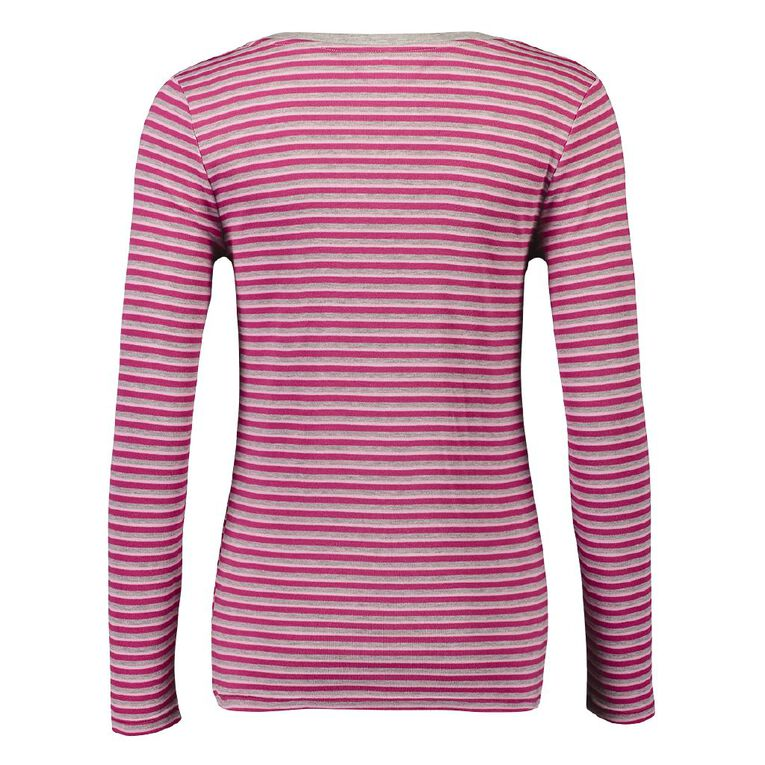 H&H Women's Polyester Viscose Long Sleeve Thermal, Pink, hi-res
