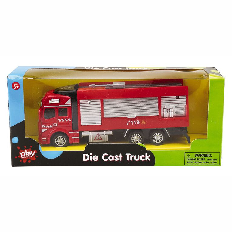 Play Studio Die-Cast Pull Back Truck Assorted, , hi-res