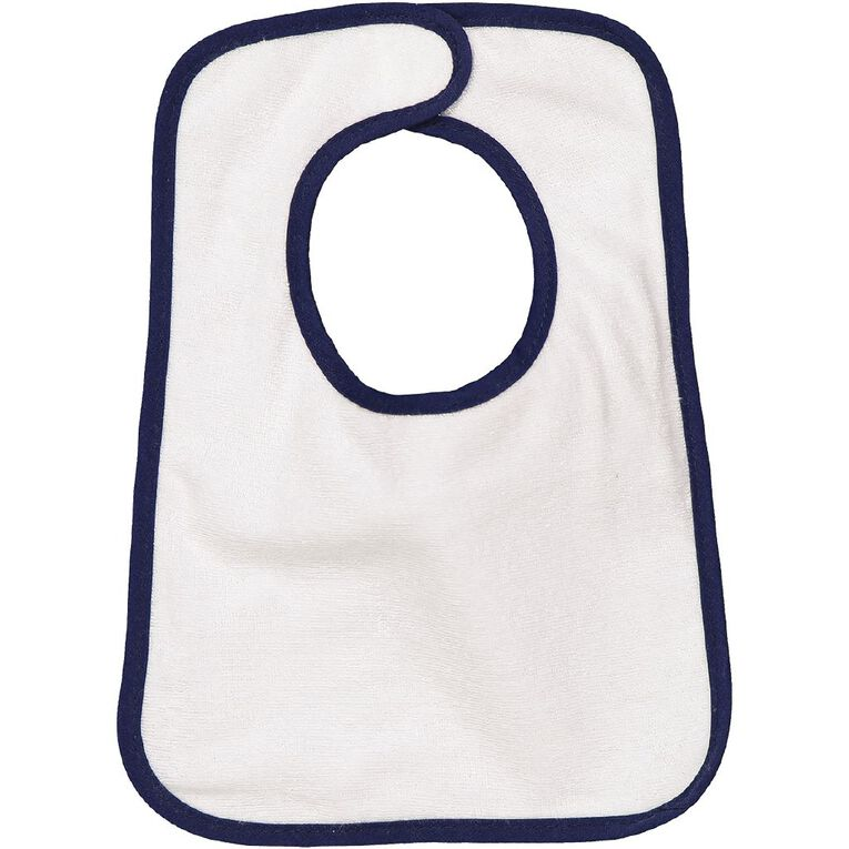 Young Original Baby 5 Pack Bibs, White SUM21, hi-res image number null