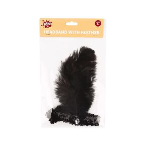 Play Studio Feather Headband Black