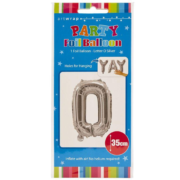 Artwrap Foil Balloon O Silver 35cm, , hi-res