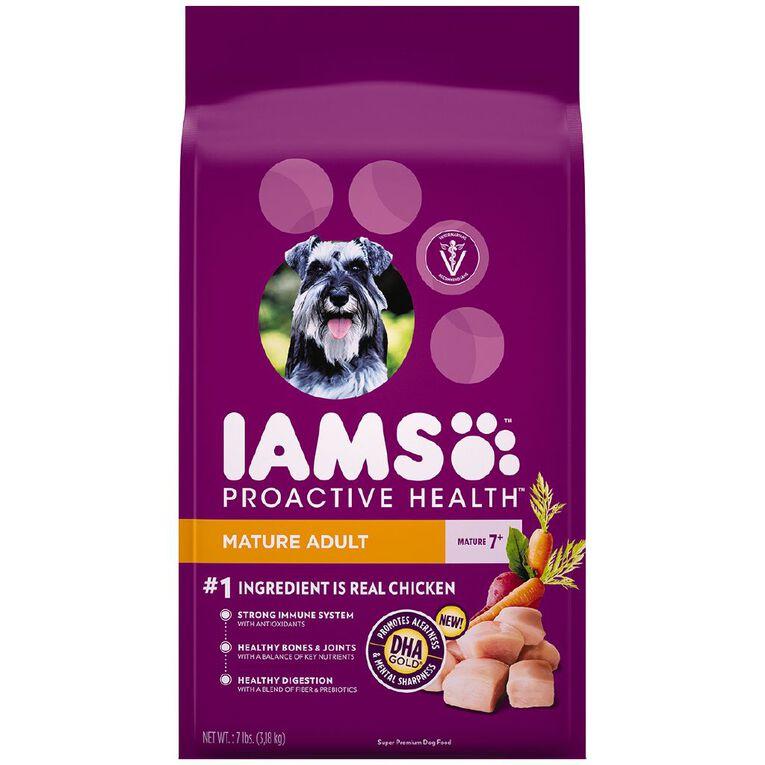 Iams Proactive Health Mature Adult Dry Dog Food Chicken 3.18kg Bag, , hi-res
