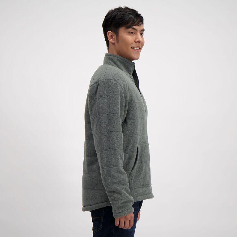 H&H Men's Microfleece Sherpa Lined Zip-Thru Sweatshirt, Charcoal, hi-res