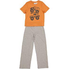 H&H Boys' Short Sleeves Knit Pyjamas