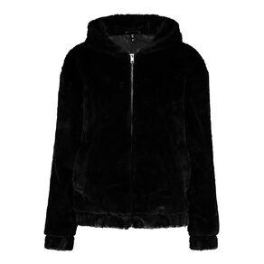 H&H Women's Fur Hooded Jacket