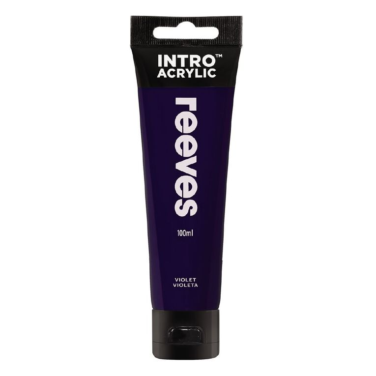 Reeves Intro Acrylic Paint Violet 100ml 100ml, , hi-res