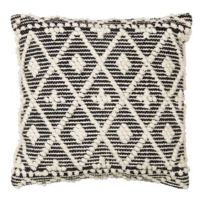Living & Co Kilim Bobble Cushion White 45cm x 45cm