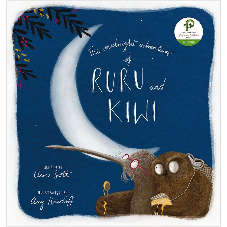 The Midnight Adventures of Ruru and Kiwi by Clare Scott, , hi-res
