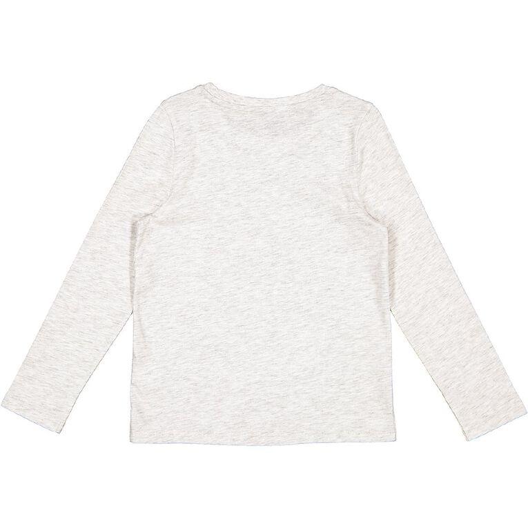 Young Original Long Sleeve Print Tee, Grey Light FEATHER, hi-res
