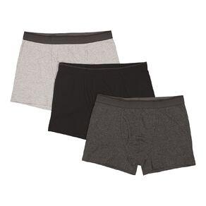 H&H Men's Classic Mid Leg Trunks 3 Pack