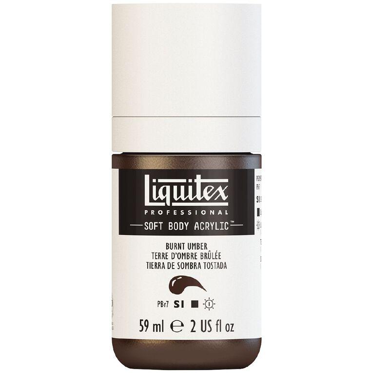 Liquitex Soft Body Acrylic 59ml Burnt Umber S1, , hi-res