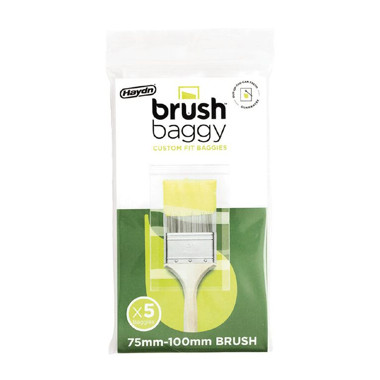 Haydn BrushBaggy Paint Brush Cover 5 Pack 75mm - 100mm, , hi-res