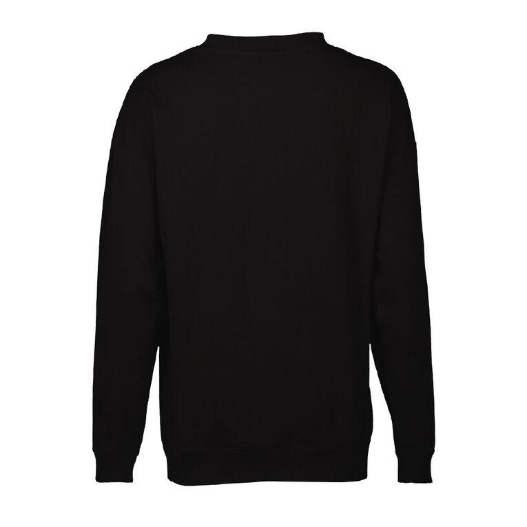 Mickey Mouse Disney Women's Lounge Sweatshirt, Black, hi-res
