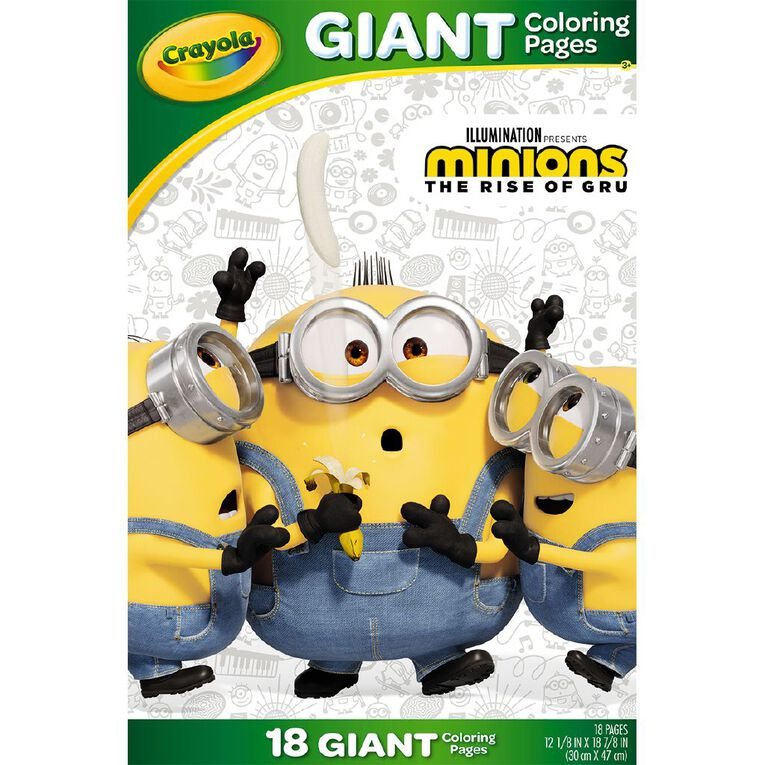 Crayola Giant Coloring Pages Minions 2, , hi-res