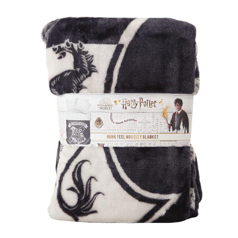 Harry Potter Blanket Mink Grey One Size, , hi-res