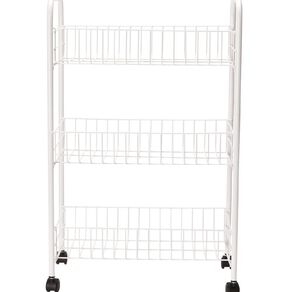 Living & Co Basket Trolley White 3 Tier