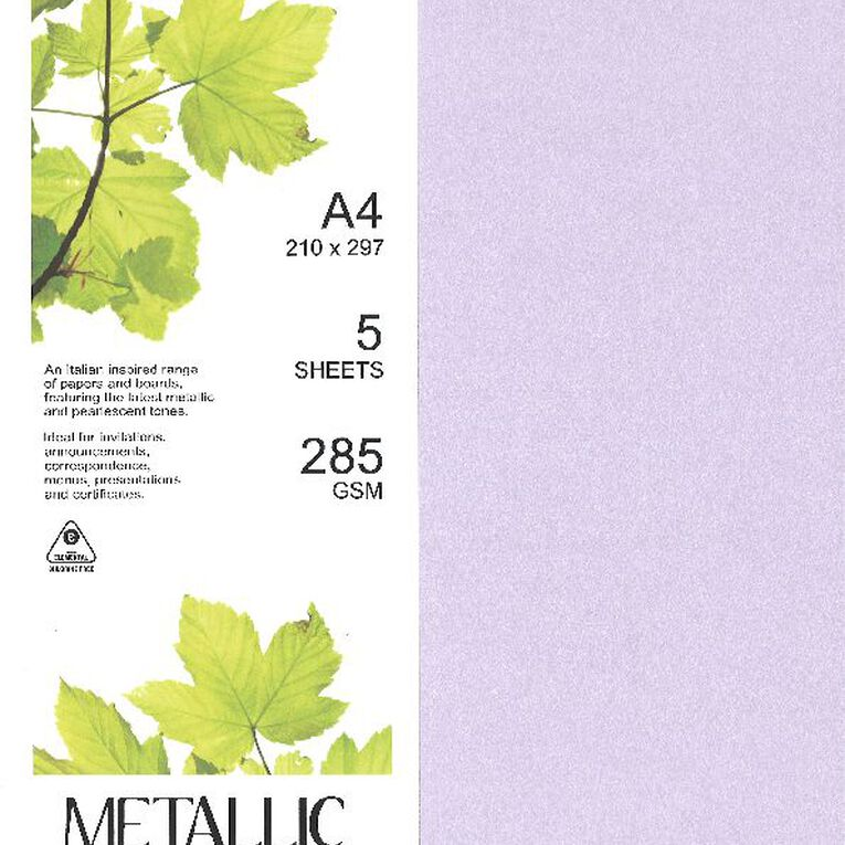 Direct Paper Metallic Board 285gsm 5 Pack Kunzite A4, , hi-res