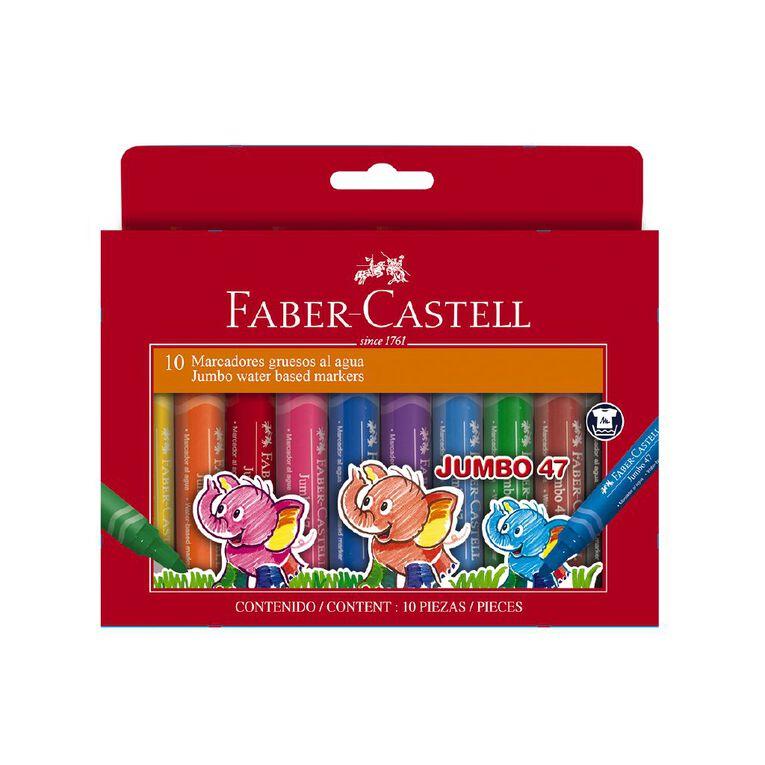 Faber-Castell Jumbo 47 Colour Marker Wallet of 10, , hi-res