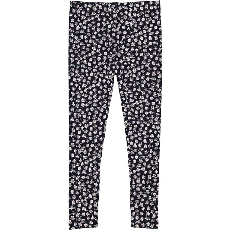 Young Original All Over Print Lilly Leggings, Blue Dark FLORAL, hi-res