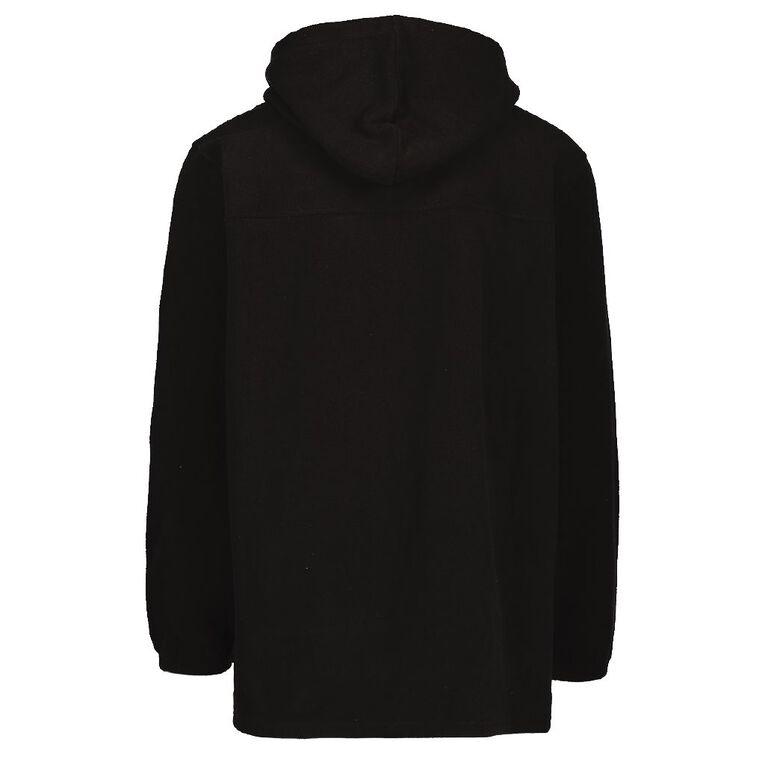 Back Country Solid Fleece Hooded Sweatshirt, Black, hi-res image number null
