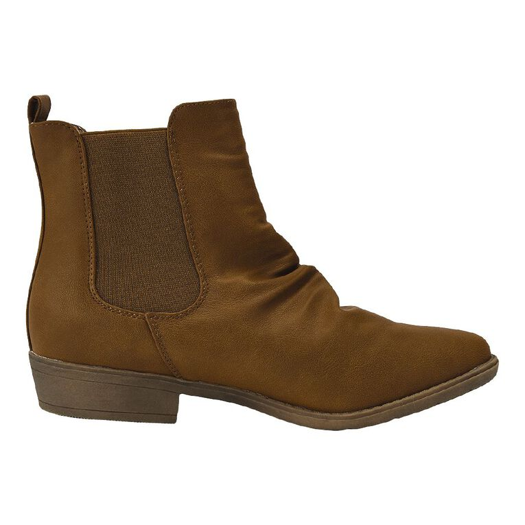 H&H Crinkle Ankle Boots, Tan, hi-res image number null