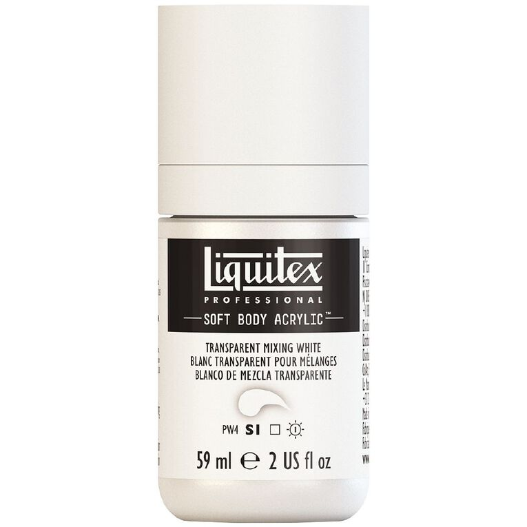 Liquitex Soft Body Acrylic 59ml Transparent Mixing White S1, , hi-res image number null