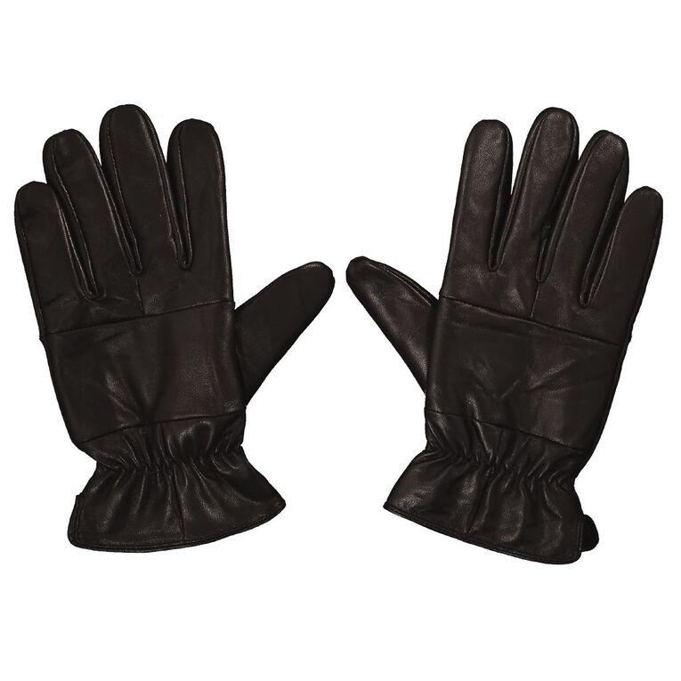 H&H Men's Leather GLoves, Black, hi-res