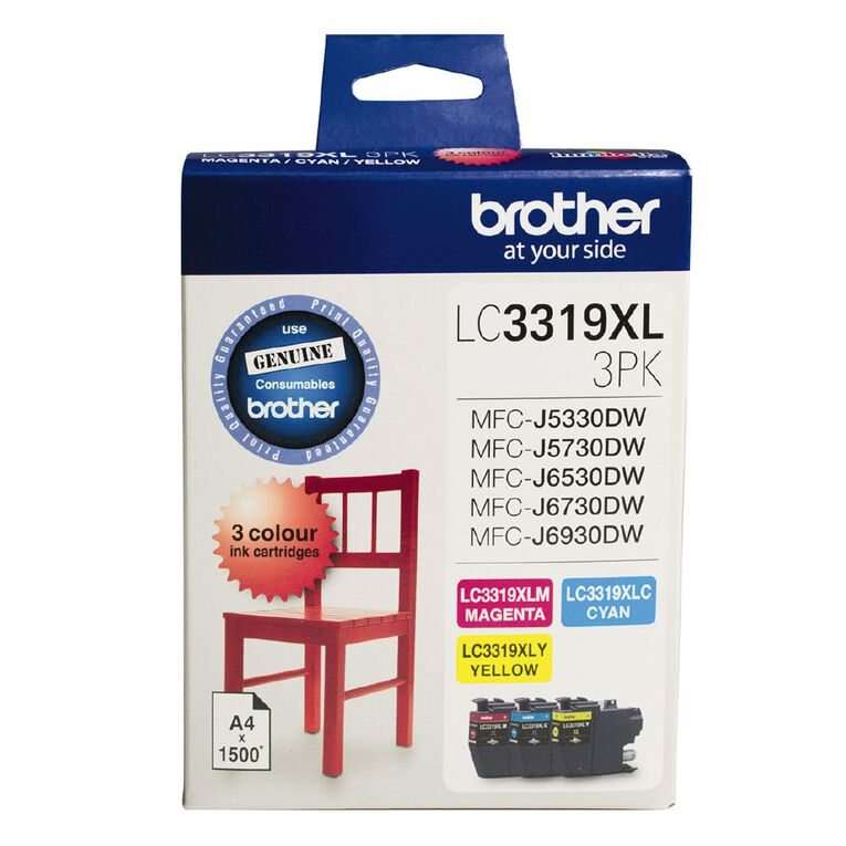 Brother Ink LC3319XL Colour 3 Pack, , hi-res