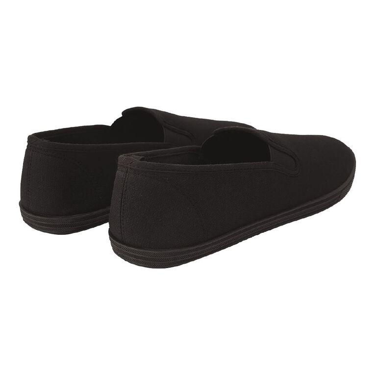 H&H Kentucki Canvas Shoes, Black, hi-res