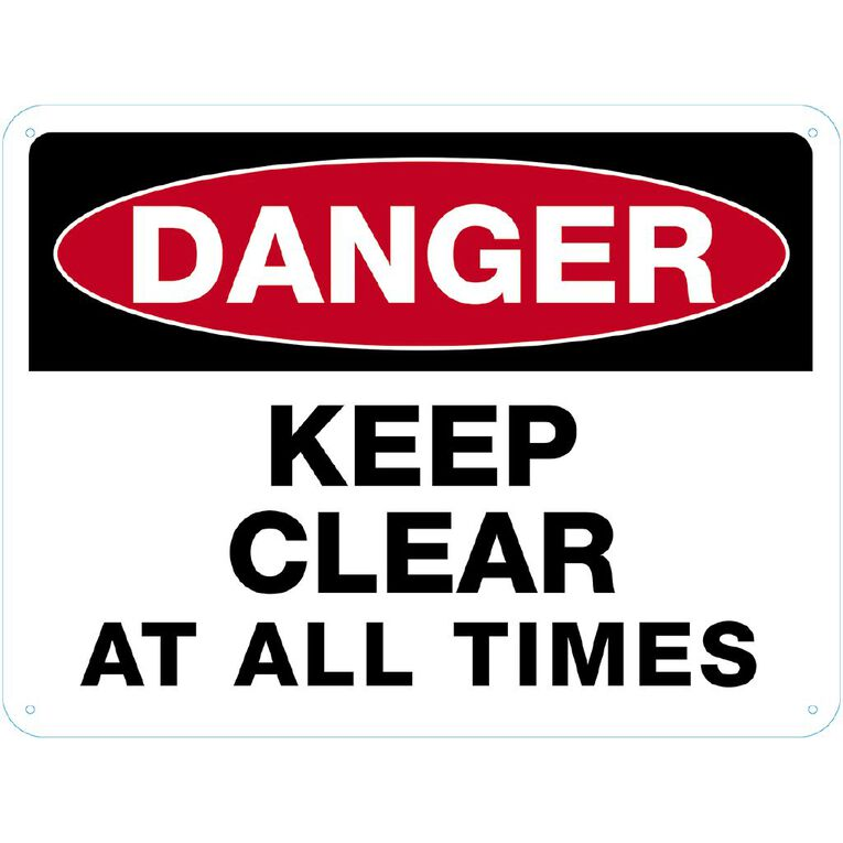 WS Danger Keep Clear Sign Large 450mm x 600mm, , hi-res
