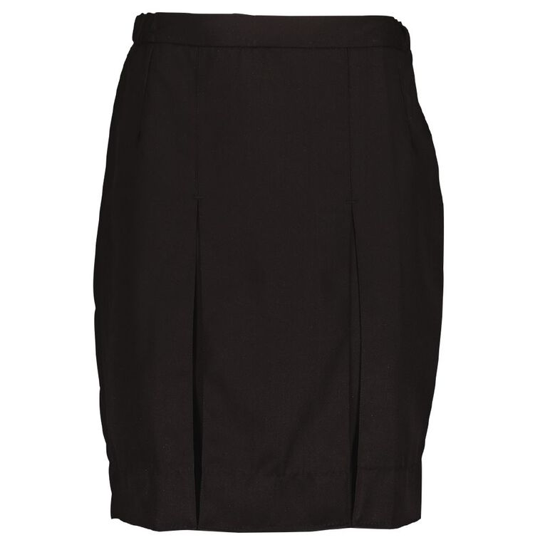 Schooltex Girls' Lined Skirt, Black, hi-res