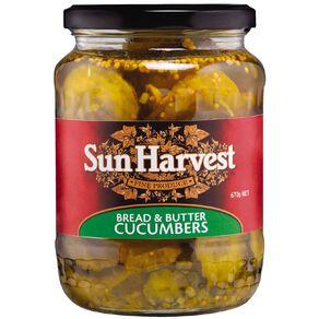 Sun Harvest Bread & Butter Cucumbers 670g