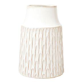 Living & Co Textured Vase 17.5cm x 25.5cm White
