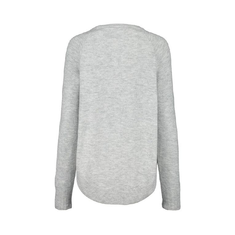 H&H Scoop Hem Spongy Knit, Grey Marle, hi-res