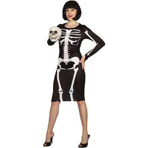 Scarehouse Skeleton Bone Dress Costume Adult One Size