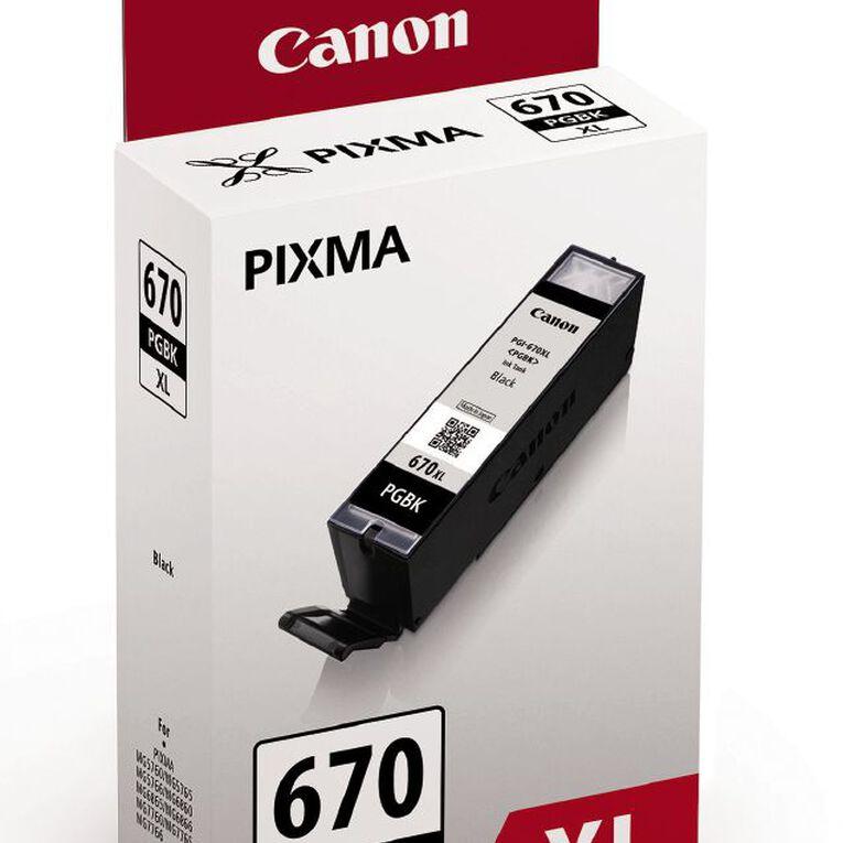Canon Ink PGI670XL Black (500 Pages), , hi-res