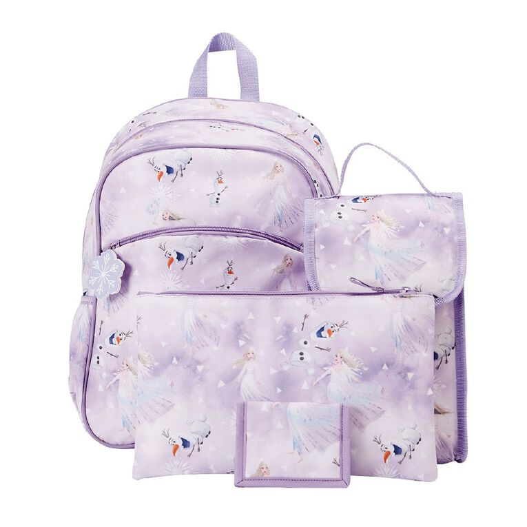 Frozen Backpack Five Piece Set, Blue, hi-res