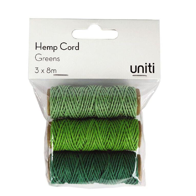 Uniti Hemp Cord Greens 3 Pack, , hi-res