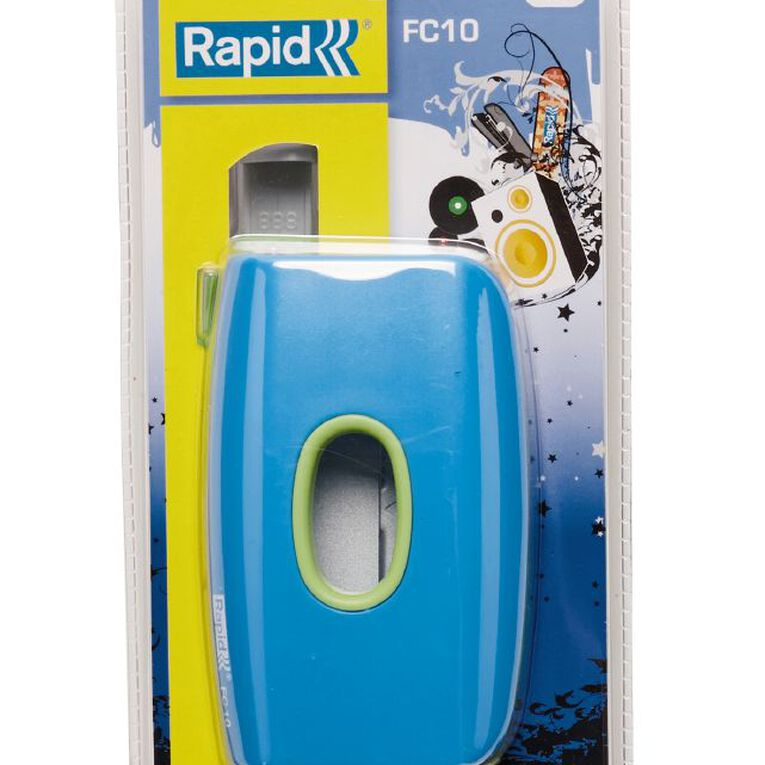 Rapid 10 Sheet 2 Hole Punch Funky Blue Green, , hi-res