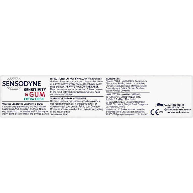 Sensodyne Sensitivity and Gum Extra Fresh Toothpaste 100g, , hi-res