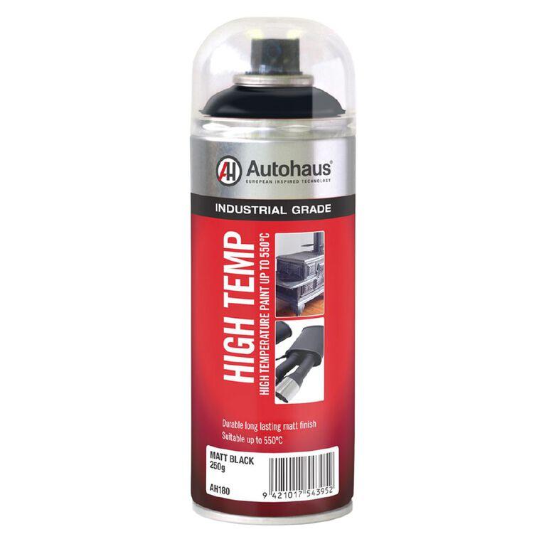 Autohaus High Temperature Aerosol Paint Matt Black 250g, , hi-res